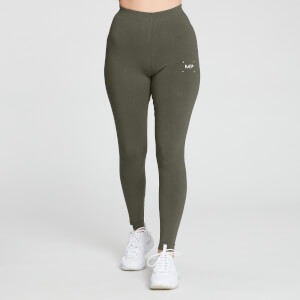 MP Women's Central Graphic Leggings - Dark Olive