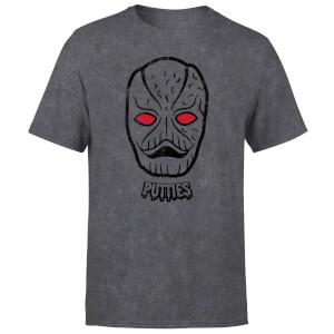 T-shirt Power Rangers Putty Face - Noir Acid Wash - Homme
