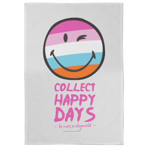 Smiley Collect Happy Days Tea Towel