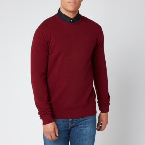 Barbour Men's Essential Lambswool Knitted Jumper - Ruby