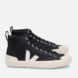 Veja Women's Nova Hit Canvas Hi-Top Trainers - Black/Pierre