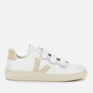 Veja Women's V-Lock Leather Trainers - Extra White/Sable