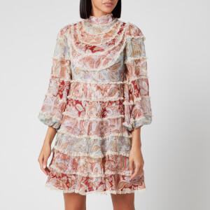 Zimmermann Women's Ladybeetle Spliced Mini Dress - Spliced Jacobean