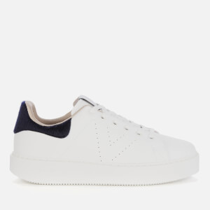 Victoria Women's Sustainable Leather Cupsole Trainers - Marino