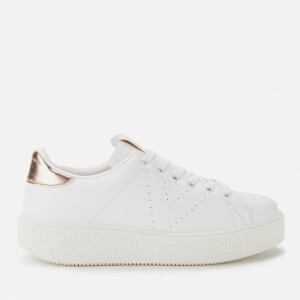 Victoria Women's Sustainable Leather Cupsole Trainers - Nude