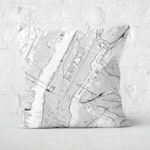 New York City Map Square Cushion