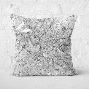 Berlin City Map Square Cushion