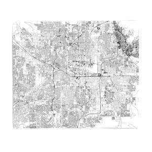 Las Vegas City Map Fleece Blanket
