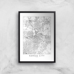 Kansas City Light City Map Giclee Art Print