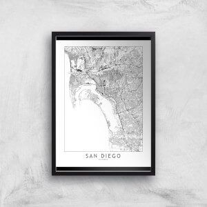 San Diego Light City Map Giclee Art Print