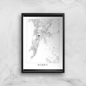 Mumbai Light City Map Giclee Art Print