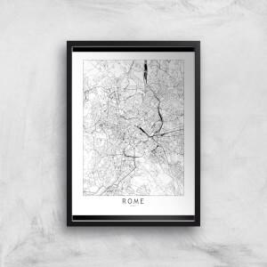 Rome Light City Map Giclee Art Print