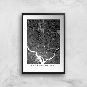 Washington D C Dark City Map Giclee Art Print