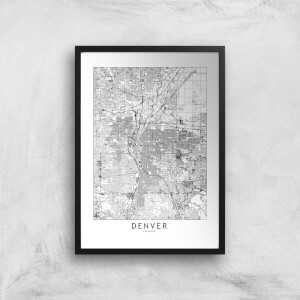 Denver Light City Map Giclee Art Print