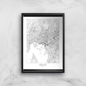 Oslo Light City Map Giclee Art Print