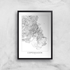 Copenhagen Light City Map Giclee Art Print
