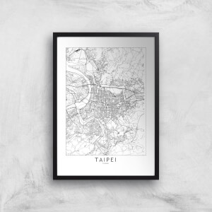 Taipei Light City Map Giclee Art Print