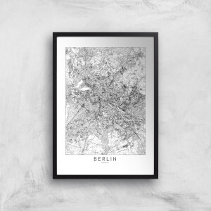Berlin Light City Map Giclee Art Print