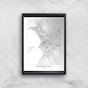 Marseille Light City Map Giclee Art Print