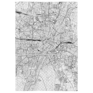 Munich City Map Tea Towel