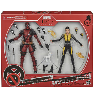 Hasbro Marvel Legends Series Deadpool und Negasonic Teenage Warhead Figuren