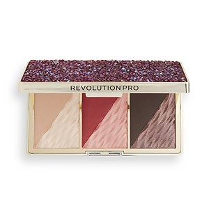 Revolution Pro Crystal Luxe Face Palette - Berry Flush
