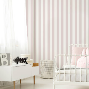 Superfresco Easy Pink Vintage Pastel Striped Wallpaper