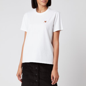 Maison Kitsuné Women's T-Shirt Fox Head Patch - White