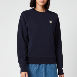 Maison Kitsuné Women's Sweatshirt Fox Head Patch - Navy