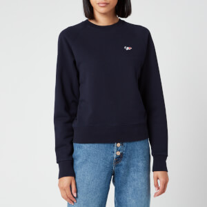 Maison Kitsuné Women's Sweatshirt Tricolor Fox Patch - Navy