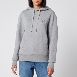 Maison Kitsuné Women's Hoodie Double Fox Head Patch - Grey Melange