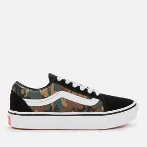 Vans Kids' Comfycush Woodland Camo Old Skool Trainers - Black/True White