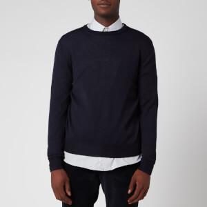 Canali Men's Long Sleeve Crew Neck Jumper - Blue