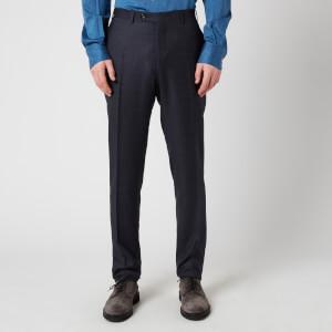 Canali Men's Matching Kei Wool Trousers - Navy
