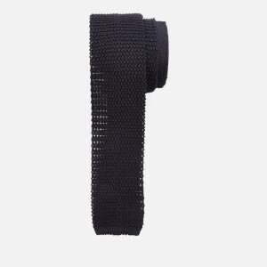 Canali Men's Silk Knitted Tie - Black