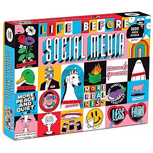 Life Before Social Media Jigsaw Puzzle