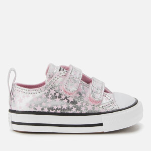 Converse Toddlers' Chuck Taylor All Star 2V Ox Trainers - Pink Glaze/Silver/White