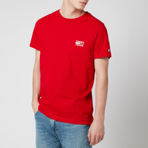 Tommy Jeans Men's Chest Logo T-Shirt - Deep Crimson