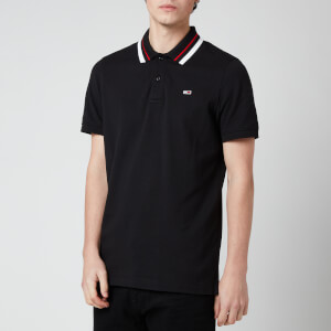 Tommy Jeans Men's Classics Tipped Stretch Polo Shirt - Black