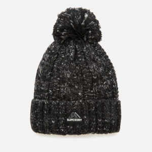 Superdry Women's Gracie Cable Beanie - Black Tweed