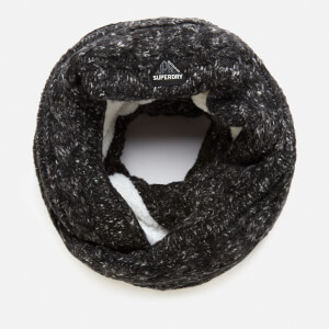 Superdry Women's Gracie Cable Snood - Black Tweed