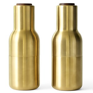 Menu Bottle Grinder - Brushed Brass - Set of 2