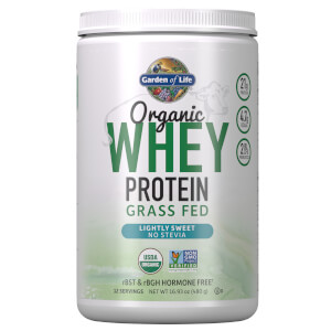 Garden of Life Organic Grass Fed Whey Protein - Lightly Sweet - 480.5g