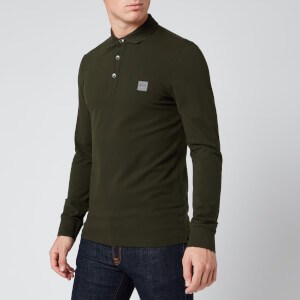 BOSS Men's Passerby Long Sleeve Polo Shirt - Open Green