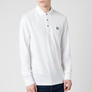 BOSS Men's Passerby Long Sleeve Polo Shirt - White