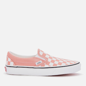 Vans Women's Classic Slip-On Checkerboard Trainers - Rose Dawn/True White