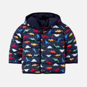 Joules Babies' Jessie Padded Coat - Navy Dinos