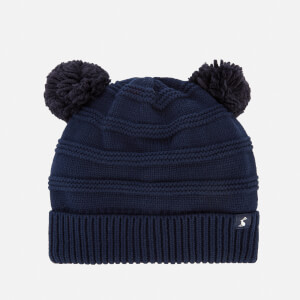 Joules Babies' Pom Pom Knitted Hat - French Navy