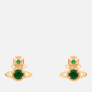 Vivienne Westwood Women's Ouroboros Small Earrings - Gold Emerald