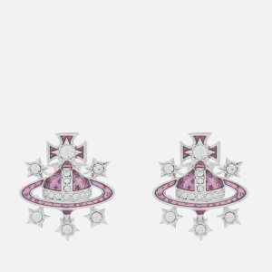 Vivienne Westwood Women's Dalila Bas Relief Earrings - Rhodium Light Amethyst Crystal